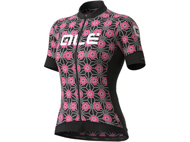 Alé Cycling PR-S Garda Koszulka z krótkim rękawem Kobiety, czarny/różowy